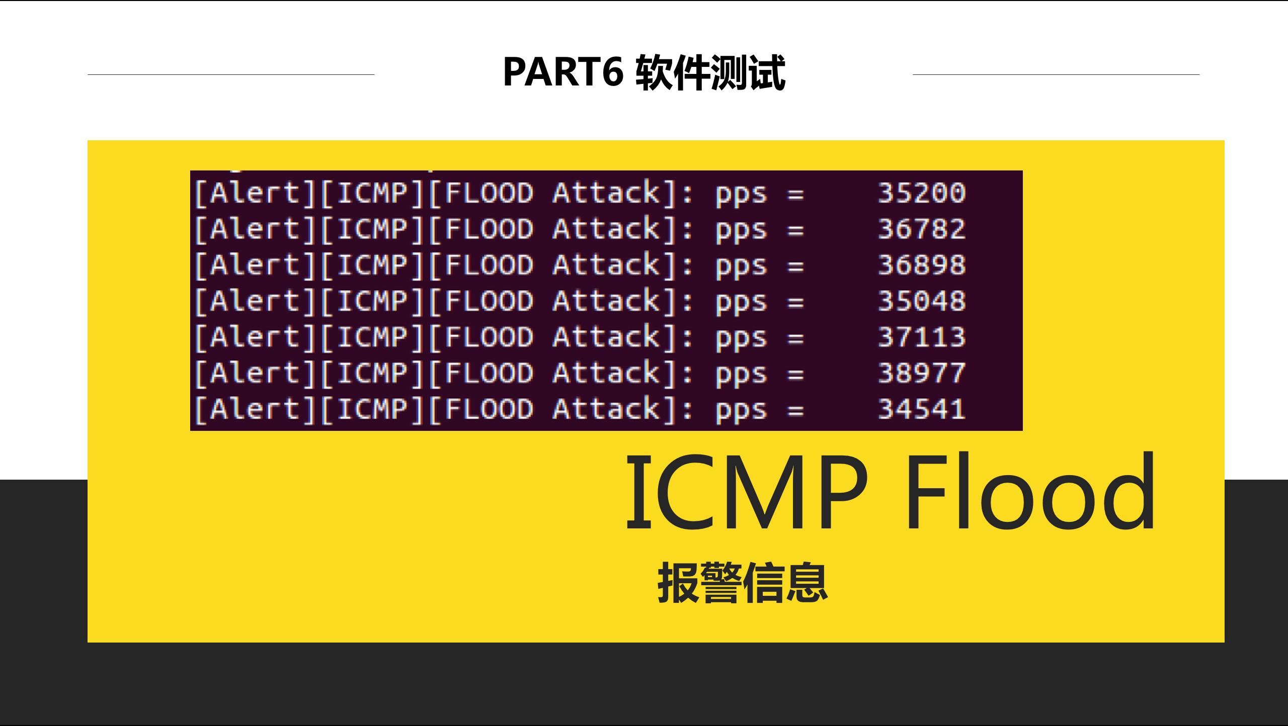 ICMP Flood检测